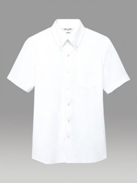ARB-EP7920 ニットシャツボタンダウン(男女兼用・半袖) ホワイト