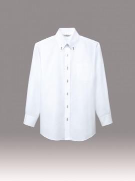 ARB-EP7921 ボタンダウンシャツ(男女兼用・長袖)  ホワイト