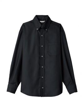 ARB-EP8059 ボタンダウンシャツ(男女兼用・長袖) ブラック
