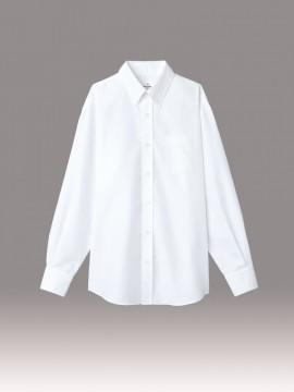 ARB-EP8059 ボタンダウンシャツ(男女兼用・長袖) ホワイト
