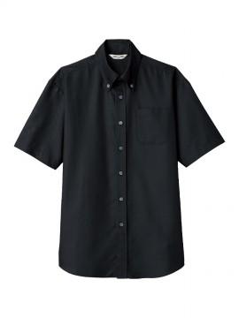 ARB-EP8060 ボタンダウンシャツ(男女兼用・半袖) ブラック