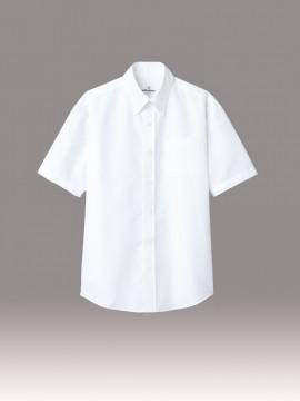 ARB-EP8060 ボタンダウンシャツ(男女兼用・半袖) ホワイト