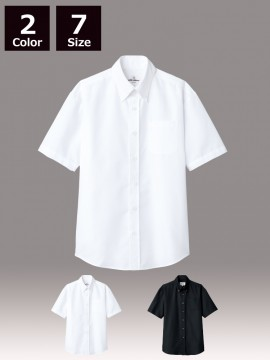 ARB-EP8060 ボタンダウンシャツ(男女兼用・半袖)