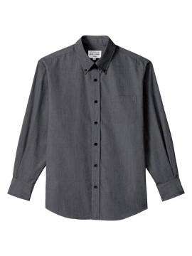 ARB-EP8235 ボタンダウンシャツ(男女兼用・長袖) ブラック