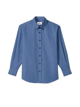 ARB-EP8235 ボタンダウンシャツ(男女兼用・長袖) ネイビー