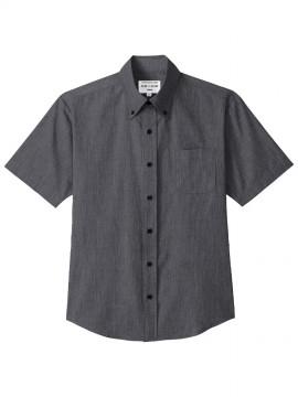 ARB-EP8236 ボタンダウンシャツ(男女兼用・半袖) ブラック