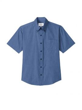 EP-8236 ボタンダウンシャツ(男女兼用・半袖) ネイビー