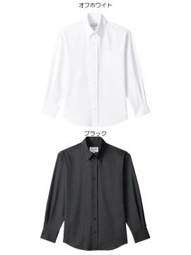 ARB-EP8237 ボタンダウンシャツ 男女兼用 長袖 ユニセックス トップス カラー一覧