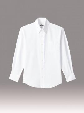 ARB-EP8237 ボタンダウンシャツ 男女兼用 長袖 ユニセックス トップス ホワイト 白