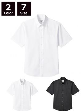 ARB-EP8238 ボタンダウンシャツ(男女兼用・半袖) ユニセックス トップス