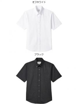 ARB-EP8238 ボタンダウンシャツ(男女兼用・半袖) ユニセックス トップス カラー一覧