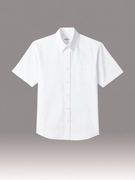 ARB-EP8238 ボタンダウンシャツ(男女兼用・半袖) ユニセックス トップス ホワイト 白