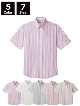 ARB-EP8242 ボタンダウンシャツ(男女兼用・半袖)