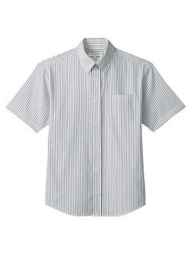 ARB-EP8242 ボタンダウンシャツ(男女兼用・半袖) 拡大画像