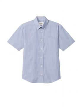 ARB-EP8252 ボタンダウンシャツ(男女兼用・半袖) 拡大画像