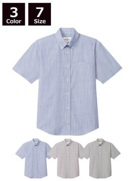 ARB-EP8252 ボタンダウンシャツ(男女兼用・半袖)