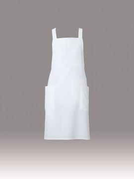 ARB-T8090 胸当てエプロン(男女兼用) ホワイト