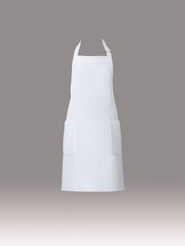 T-8091 胸当てエプロン(男女兼用)ホワイト