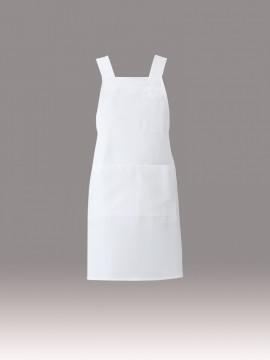 ARB-T8092 胸当てエプロン(男女兼用) ホワイト