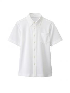 BS-23305 ボタンダウンシャツ(男女兼用) 白