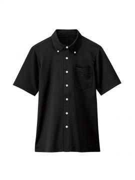 BS-23305 ボタンダウンシャツ(男女兼用) 黒