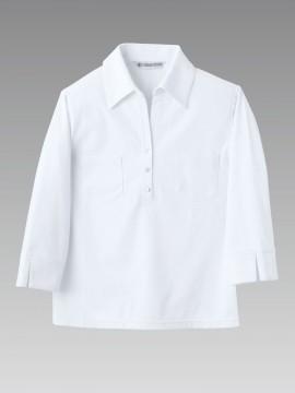 MC2101 ニットシャツ(レディス・7分袖) 拡大画像