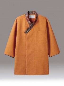 CK-2721 シャツ(七分袖) オレンジ/茶