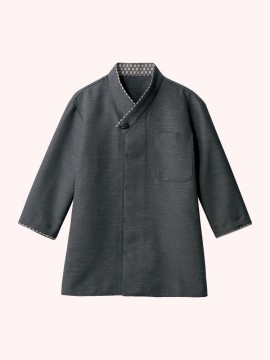 CK-2731 シャツ(七分袖) 拡大画像 チャコール/黒