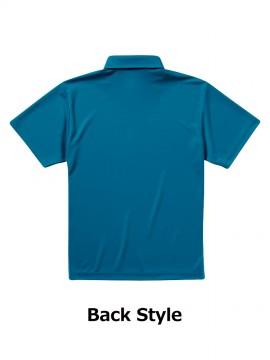 4.1オンス ドライアスレチック ポロシャツ(ボタンダウン)(ポケット付) バックスタイル