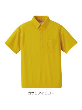 4.1オンス ドライアスレチック ポロシャツ(ボタンダウン)(ポケット付) 拡大画像