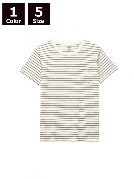 5.3ozユーロボーダーTシャツ(ポケット付)