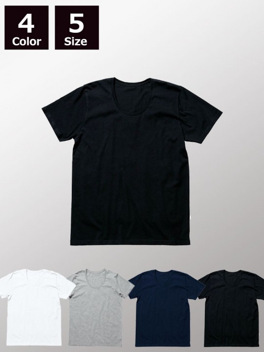 4.3ozオーガニックコットンUネックTシャツ
