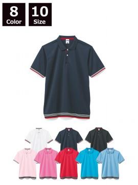 BM-MS3117 裾ラインリブポロシャツ