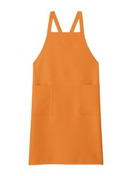 BM-FK7168 胸当てエプロン 拡大画像 オレンジ