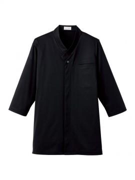 BM-FB4533U 和衿ニットシャツ 拡大画像 ブラック