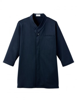 BM-FB4533U 和衿ニットシャツ 拡大画像 ネイビー