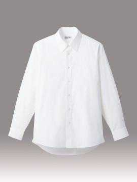 BM-FB4534U ブロードレギュラーカラー長袖シャツ(白ボタン) 拡大画像