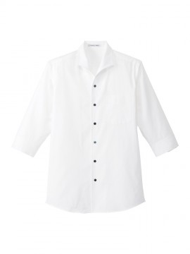 BM-FB5034M メンズイタリアンカラー七分袖シャツ 拡大画像 ホワイト