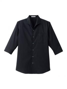 BM-FB5034M メンズイタリアンカラー七分袖シャツ 拡大画像 ブラック