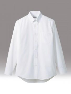 BM-FB5035M 吸水速乾メンズ長袖シャツ 拡大画像 ホワイト