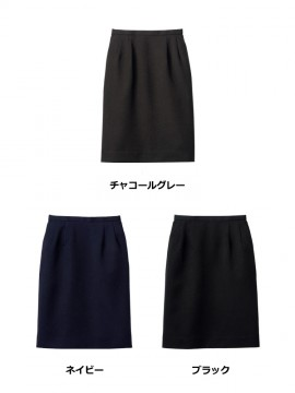 FS2004L レディスストレッチスカート カラー一覧 チャコールグレー ネイビー ブラック