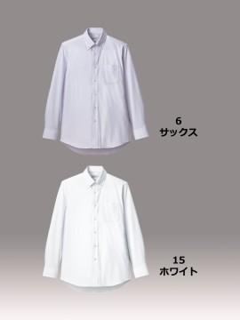 メンズボタンダウン長袖ニットシャツ