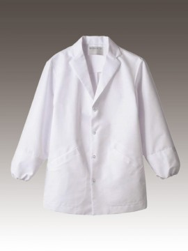 CK-1541 調理衣(長袖・袖口ネット) 拡大画像