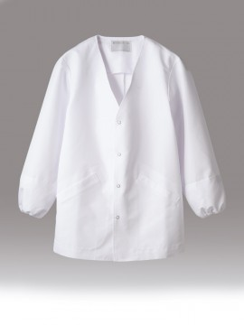 CK-1551 調理衣(長袖・袖口ネット) 拡大画像