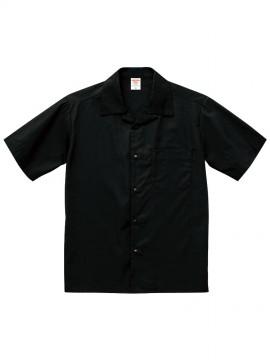 CB-1759 T/C オープンカラー シャツ 拡大画像 ブラック
