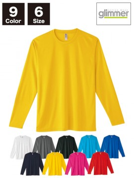 WE-00352-AIL 3.5oz インターロックドライ長袖Tシャツ