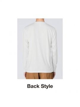 WE-00352-AIL 3.5oz インターロックドライ長袖Tシャツ バックスタイル