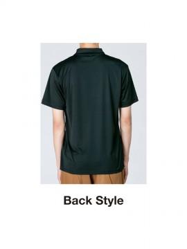 WE-00351-AIP 3.5oz インターロックドライポロシャツ バックスタイル