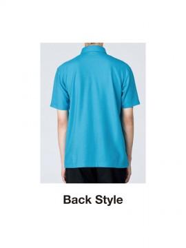 WE-00198-BDQ 4.9オンス ボタンダウンポロシャツ(ポケット付き) バックスタイル