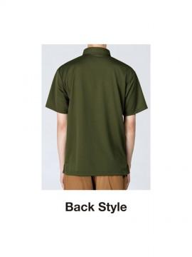 WE-00313-ABN 4.4オンス ドライボタンダウンポロシャツ バックスタイル